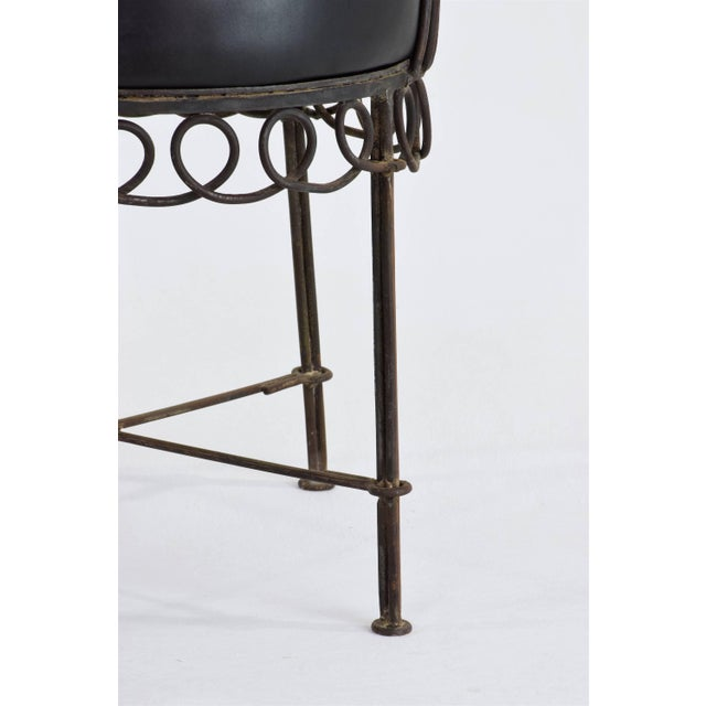 French Mid-Century Cap d'Ail Chair by Mathieu Matégot, 1950's For Sale - Image 9 of 11