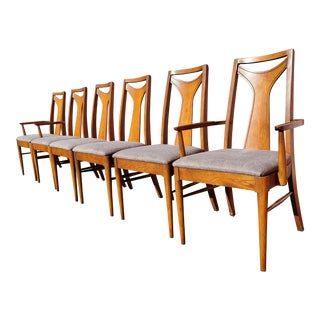 Mid-Century Modern Kent Coffey Perspecta Dining Chairs - Set of 6 For Sale