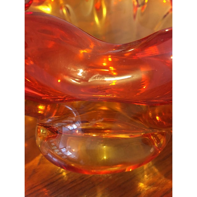 1950s Vintage Italian Murano Glass Centerpiece Bowl For Sale - Image 4 of 7