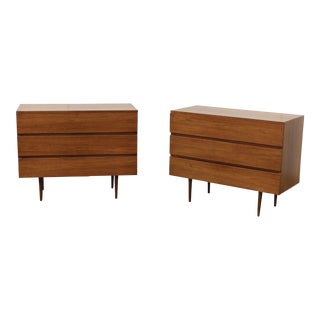 1960's Modern Walnut Dressers