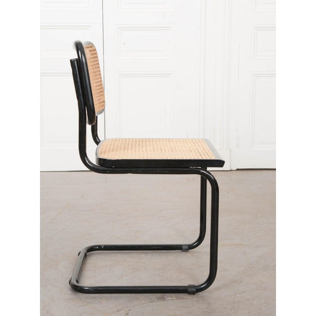 Metal Vintage Bauhaus-Style Steel Side Chairs - Set of 4 For Sale - Image 7 of 10
