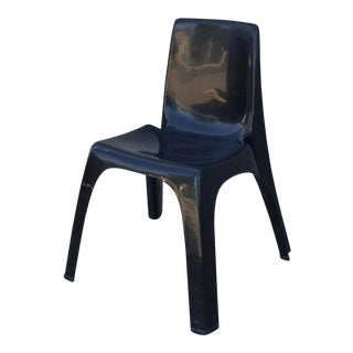 Vintage Kartell Castiglioni Gaviraghi Lanza Molded Black Chair For Sale