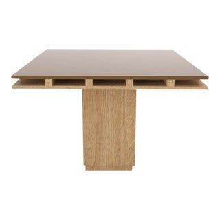 Contemporary 101C Dining Table in Oak and Brown by Orphan Work, 2019 For Sale