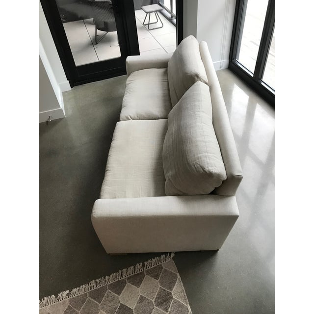 Textile Restoration Hardware Maxwell Upholstered Sofa in Belgian Linen For Sale - Image 7 of 11