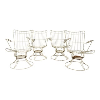 Mid-Century Modern Homecrest Bermuda Dining Chairs (Set of 4)