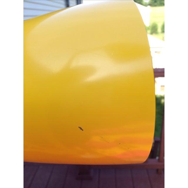 Yellow Mid Century Modern Bullet Floor Lamp - Image 10 of 11
