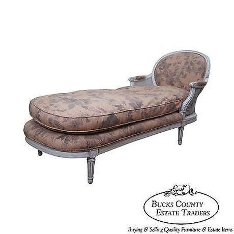 Quality French Louis XVI Style Painted Chaise Lounge For Sale - Image 13 of 13