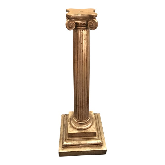 Gilt Ionic Table Lamp For Sale