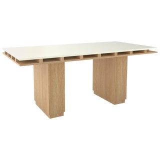 Contemporary 103 Dining Table in Oak and White by Orphan Work, 2019 For Sale