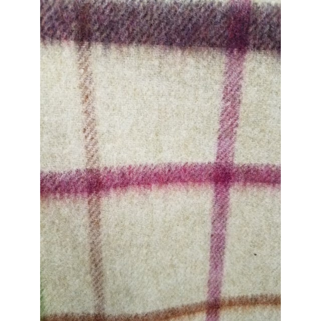 Wool Throw Multi Color Stripes on Beige Background - Made in England For Sale - Image 10 of 12