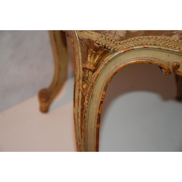 French French Gilt & Painted Boudoir Chairs - A Pair For Sale - Image 3 of 11