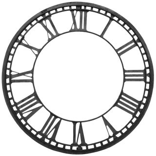 Antique Church Clock Face For Sale
