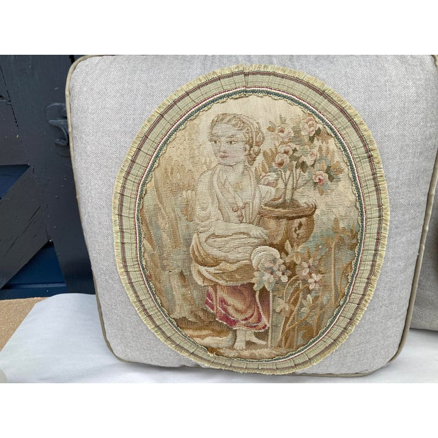 Textile 19th Century Aubusson Tapestry Pillows - a Pair For Sale - Image 7 of 9