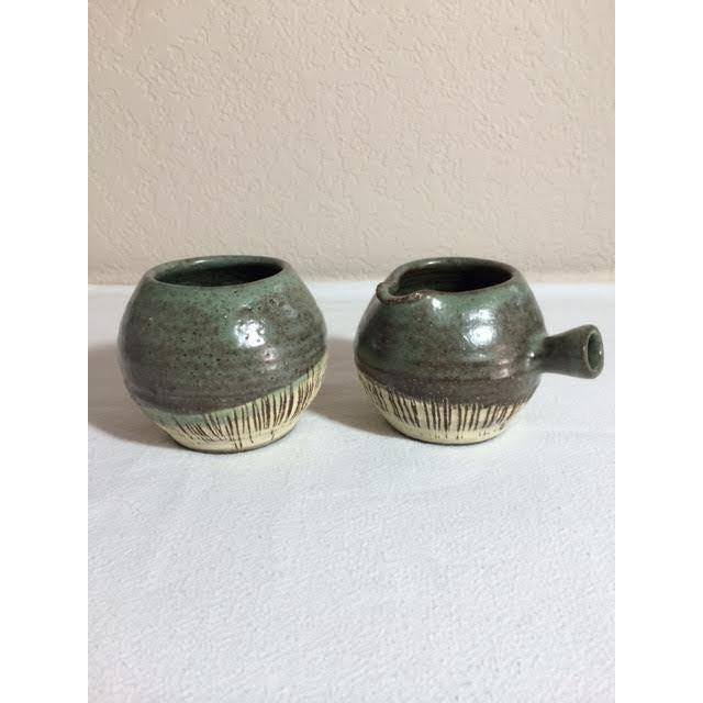 Mid-Century Pottery Art Sugar & Creamer Set - Image 2 of 6