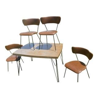 Vintage Umanoff Eames Style Mid-Century Modern Dining Set - Set of 5