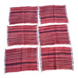 Image of Wax Resist Tie Dye Homespun Placemats- Set of 6 For Sale