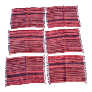 Wax Resist Tie Dye Homespun Placemats- Set of 6 For Sale