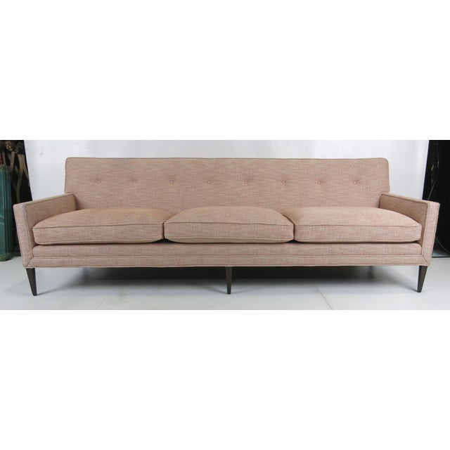 Walnut Frame Sofa after Paul McCobb For Sale In San Francisco - Image 6 of 7
