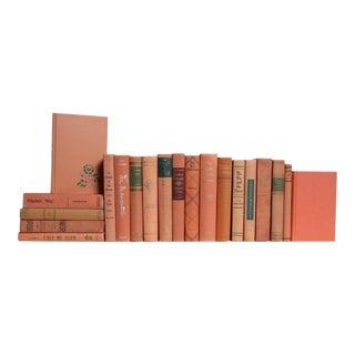 Midcentury Peach Sorbet Book Set, S/20 For Sale