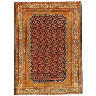 Late 19th Century Antique Persian Malayer Rug - 4′7″ × 6′1″ For Sale