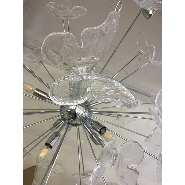 2010s Italian Mid-Century Kromo Murano Glass Butterfly Sputnik Chandelier For Sale - Image 5 of 11