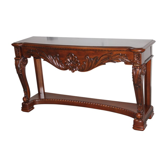 Carved Wood Coffee Table - Image 1 of 6