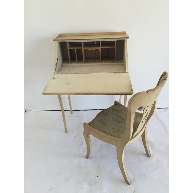 Petite French Desk and Chair - Image 3 of 5