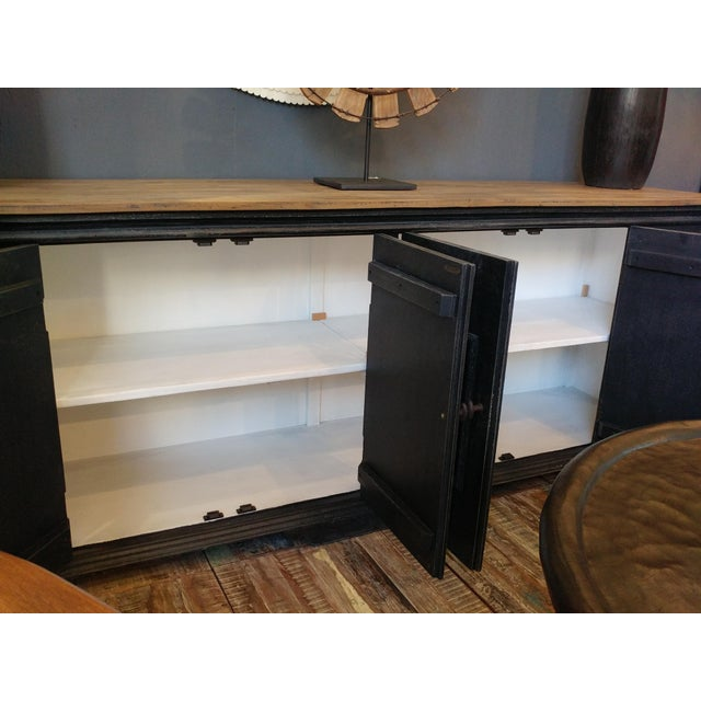 Salvaged Black & Tan Sideboard For Sale - Image 9 of 10