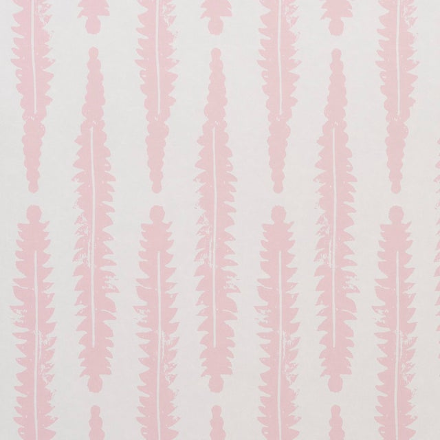 2020s Sample - Schumacher x Molly Mahon Fern Wallpaper in Pink For Sale - Image 5 of 5