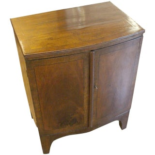 George III Mahogany Bowfront Cabinet For Sale