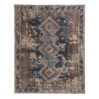 Indian Gray Wool Rug-8′1″ × 10′ For Sale