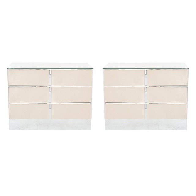 Ello Dusty Rose Side Dressers - A Pair - Image 1 of 9