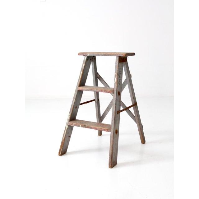 Vintage Wooden Step Ladder For Sale - Image 12 of 12