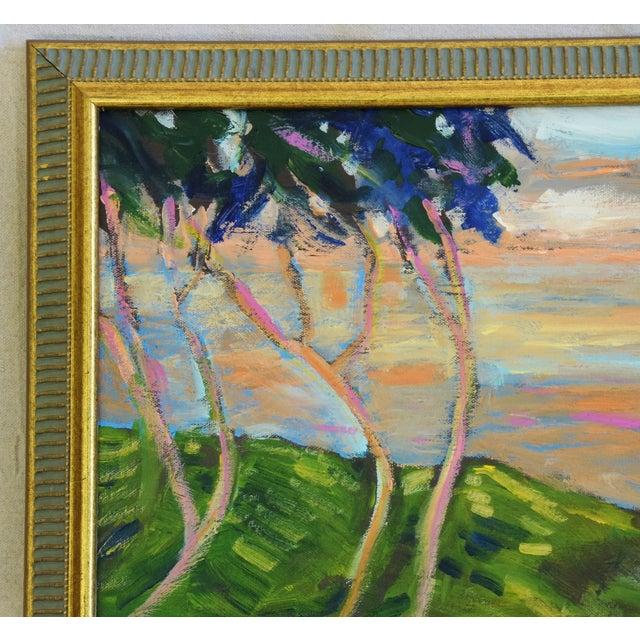 Mid 20th Century Juan Guzman Plein Air Landscape Painting For Sale - Image 5 of 10