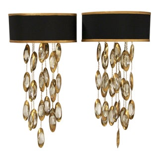 John-Richard Collection Black Tie Two-Light Sconce, Pair For Sale