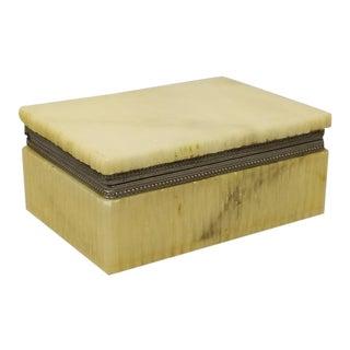 1960s Vintage Italian Alabaster Beige Box For Sale