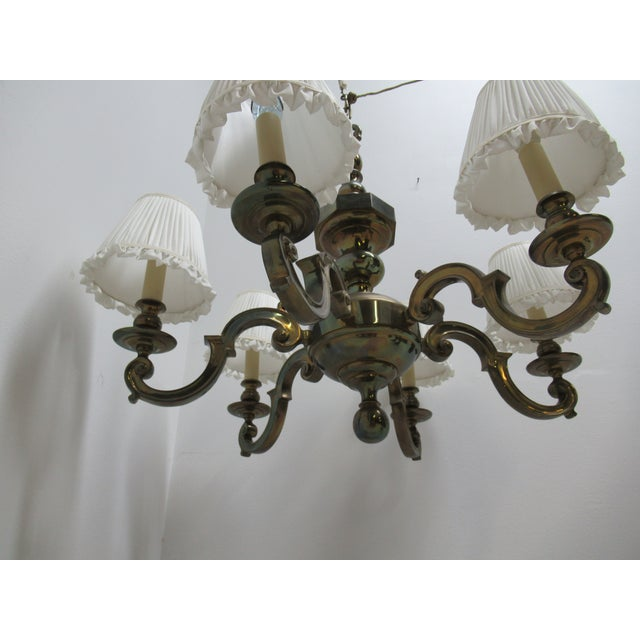 1974 Vintage Chapman Brass French Monumental Chandeliers - a Pair For Sale In Philadelphia - Image 6 of 13