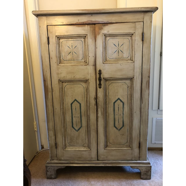 Great Old Cupboard originating in London and carried across the Pond to the USA in 2020. Original Invoice was shown to me....