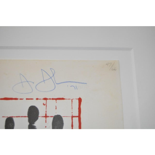 """Circa 1971 """"Coca Cola"""" Signed Color Lithograph By Jasper Johns For Sale - Image 7 of 9"""