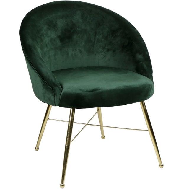 Modern Emerald Velvet Chantilly Chair For Sale - Image 3 of 3