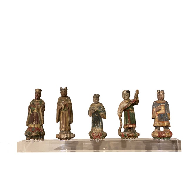 Chinese Figures on Acrylic Base For Sale In Dallas - Image 6 of 6