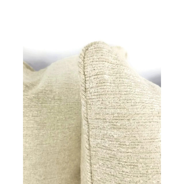 Contemporary Holly Hunt Dalai Lama Himalayas Cream Chenille Pillow Cover For Sale - Image 3 of 5