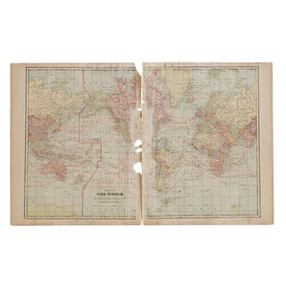 Cram's 1907 Map of World For Sale
