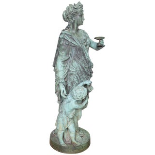 Bronze Figure of a Woman and Child Representing Autumn