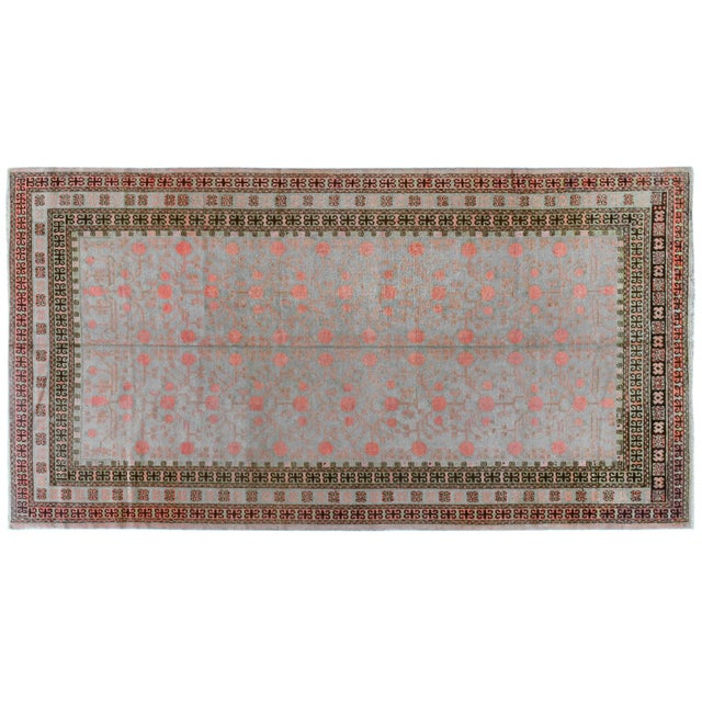 """Chinese Antique Khotan Rug- 6' X 11'1"""" For Sale - Image 3 of 3"""