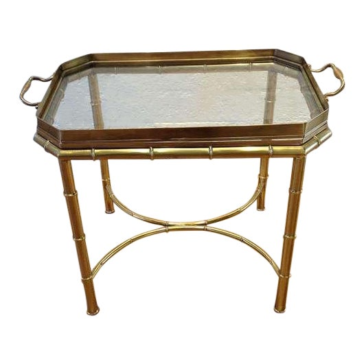 Mastercraft Brass Tray Table For Sale