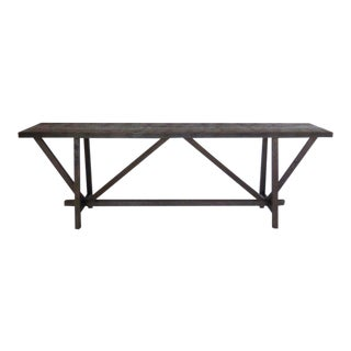 Reclaimed Wood Buttress Console For Sale