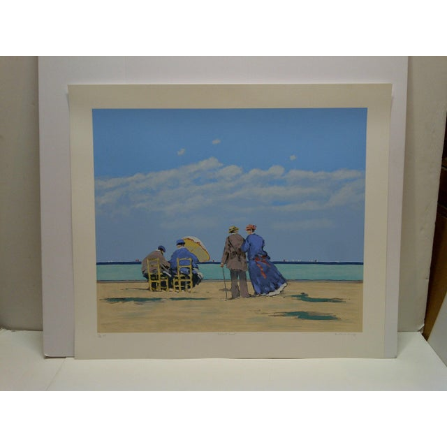"""Blue Frederick McDuff Limited Edition """"Emerald Coast"""" Artists Proof Print For Sale - Image 8 of 8"""