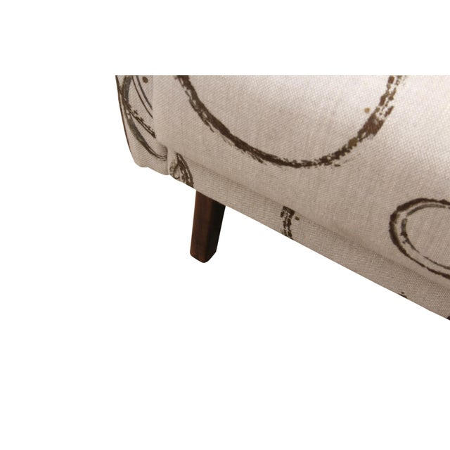 Wood Kravet Upholstered Mid Century Modern Armchairs - a Pair For Sale - Image 7 of 8