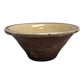 French 1920s Terra Cotta Mixing Bowl For Sale